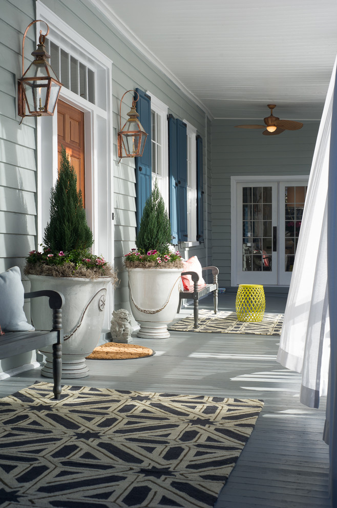 Magnificent loloi in Porch Traditional with Sherwin Williams Divine White  next to Sherwin Williams Comfort Gray  alongside Sherwin Williams Passive Gray  and Front Porch Furniture