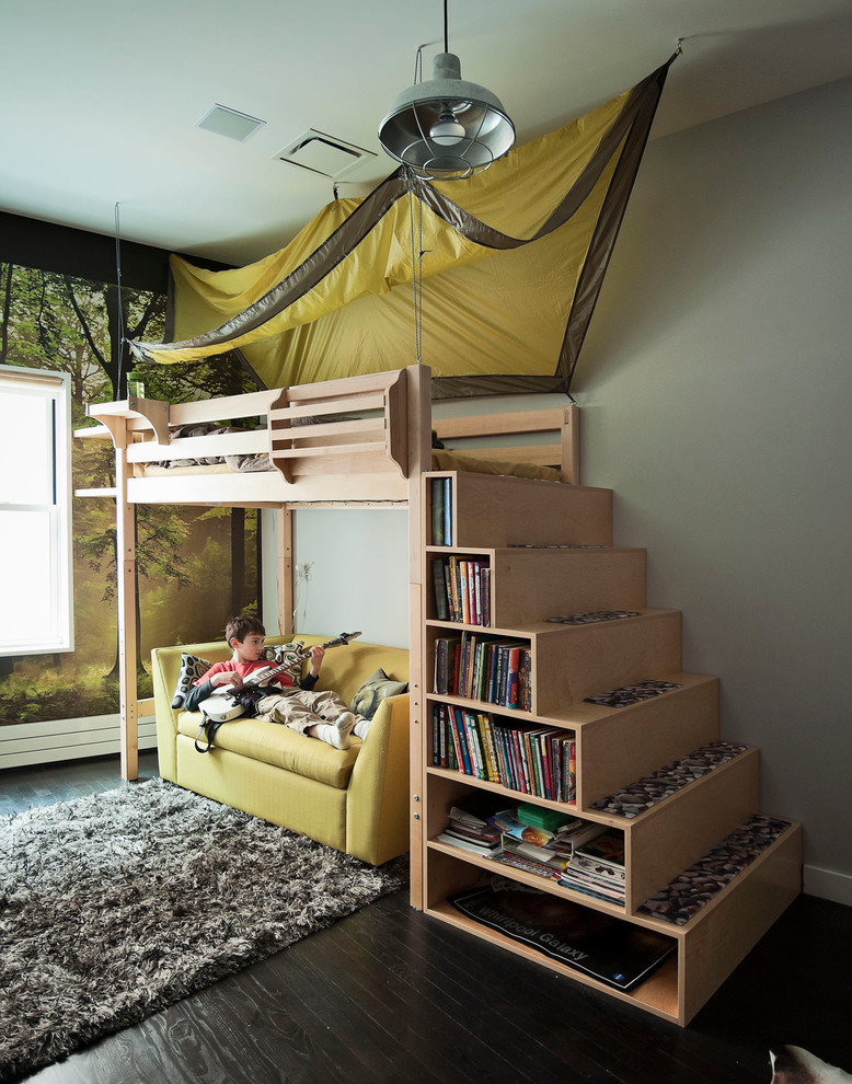 Magnificent Twin Sleeper Sofa In Kids Contemporary With Bedroom False Ceiling Next To Art Above