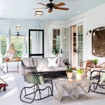 Splashy porch glider in Porch Traditional with Painted Interior Doors next to Low Basement Ceilings alongside Screened Porch and Screen Porch