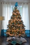Glorious Designer Christmas Trees Living Room Transitional with Christmas Tree White and Blue Decorations Decor Wreaths & Garlands White
