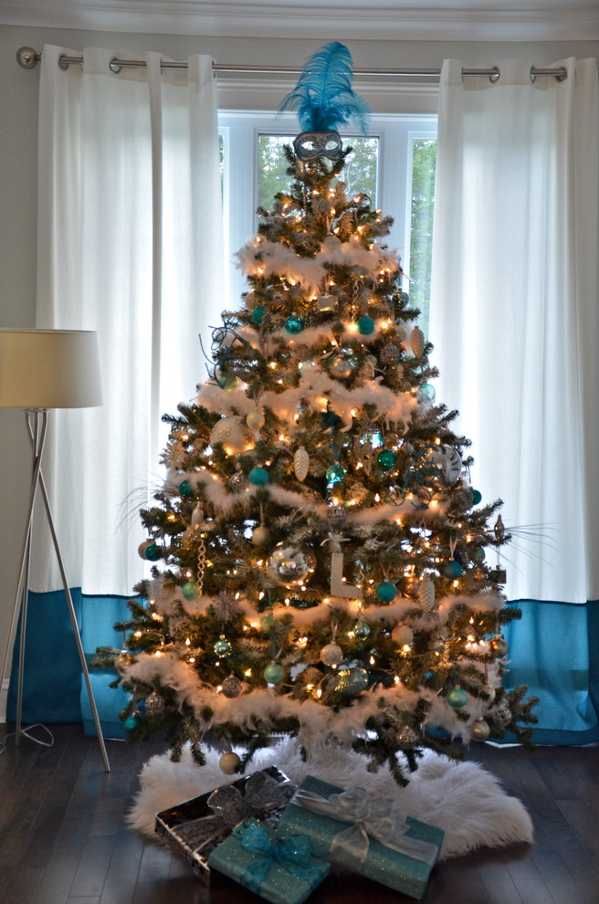 Sumptuous burlap christmas tree skirt in Living Room Contemporary with Ruffled Living Room Skirts  next to Mardi Gras  alongside Mesh Christmas Ribbon  and Masks