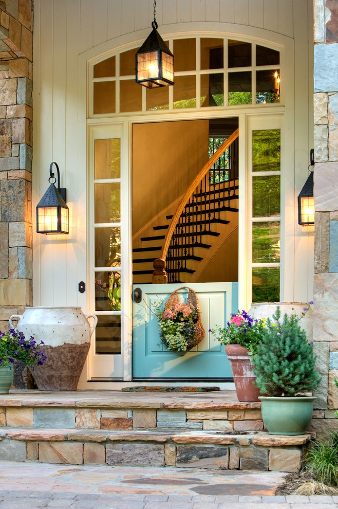 Sumptuous Doggie Steps In Entry Traditional With Safe Room Next To | Modern Front Door Steps | Entrance | Bungalow Entrance | Modern House | Contemporary | Garden Entrance