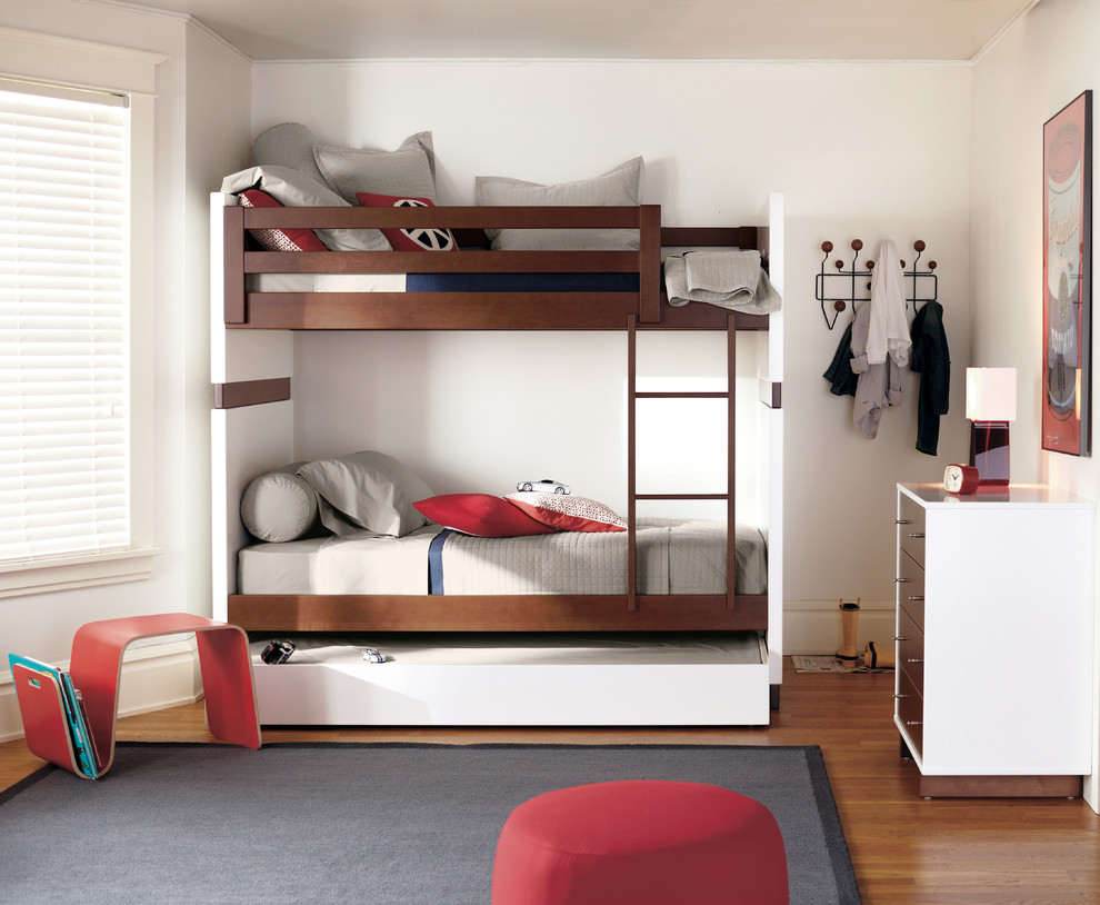 Sumptuous trundle bunk beds in Kids Modern with Bunk Bed Plans  next to Boy Bedroom  alongside Triple Bunk Bed  and Kids Bedroom