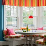 Teal And Coral Coastal Beach Window Valance