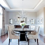 Rectangular Chandelier Painted Wainscot