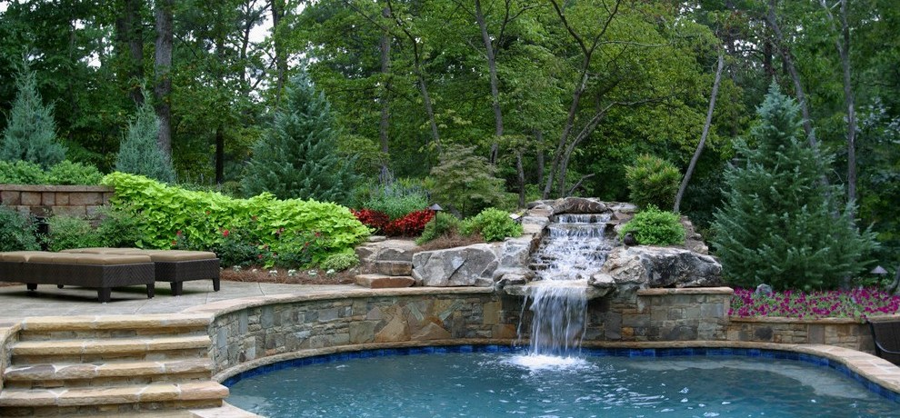 pool tile designs traditional with waterfall hot tub and accessories
