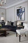 Teal Velvet Sofa Living Room Traditional with Wood Side Table Framed Prints and Posters