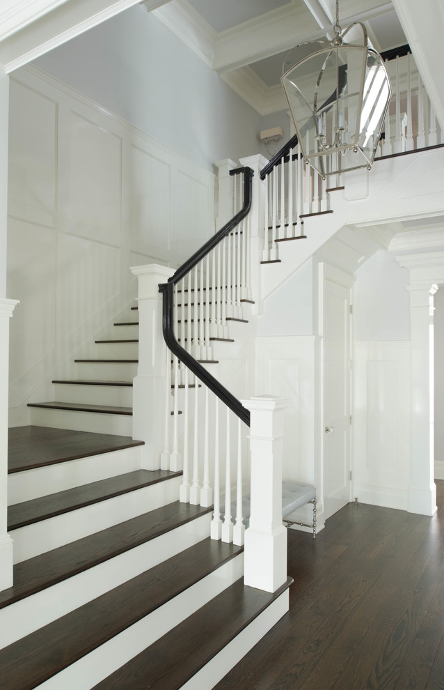 Wood Stair Treads Staircase Traditional With Dark Stained Stairs | Engineered Oak Stair Treads | Stair Nosing | Wood | Modern Retro | Laminate Flooring | Stair Parts