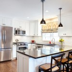 10x10 kitchen remodel rustic with brass lever handles