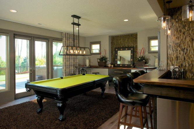 Contemporary Pool Tables Shed Beach Style With Table Fluorescent Pendant Lights1