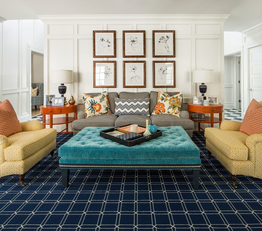 room mediterranean with drapery area rugs