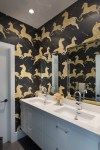 Modern Bathroom Pictures with Slate Tile His and Hers Wall Mounted Faucet New York