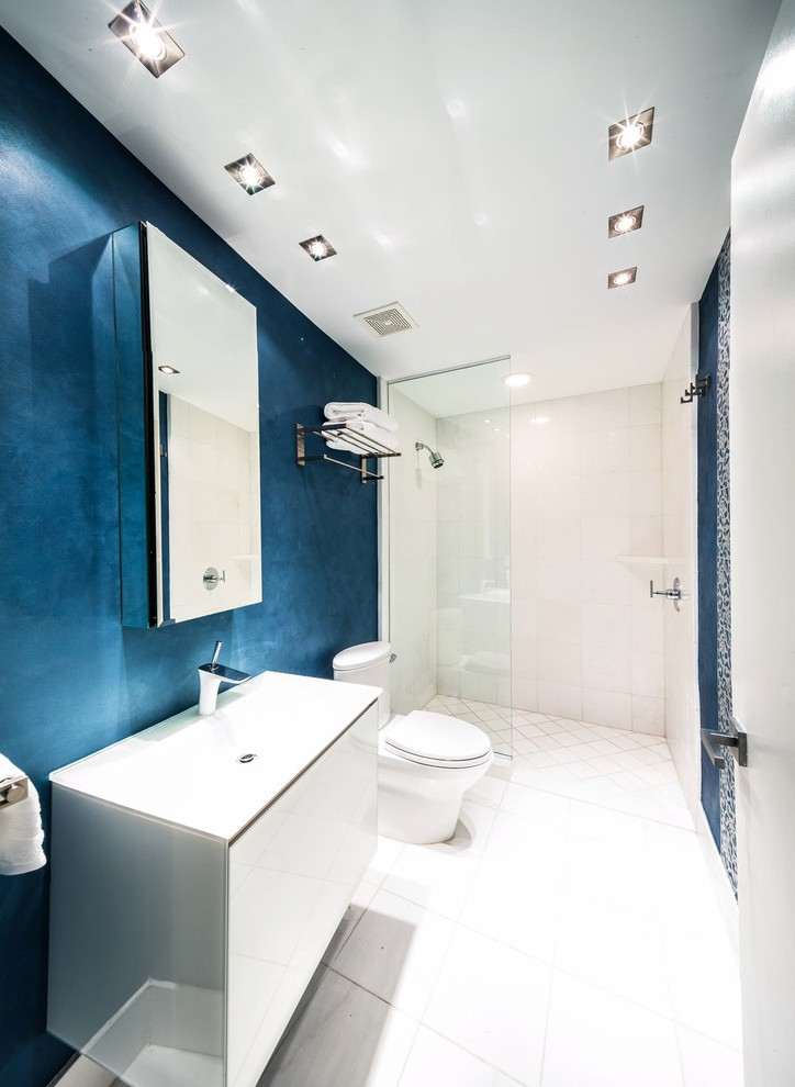 Modern Recessed Lighting Bathroom Contemporary With Shower