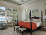 Orange Duvet Cover with Tile Floor Curtain Rod Front Loading Washer and Dryer