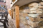 Rustic Outdoor Kitchen Porch Traditional with Back Burning Pizza Ovens