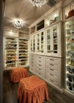 Shoe Closet Ideas Traditional with Dressing Area Display and Wall Shelves