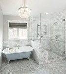 Shower Niche Ideas Bathroom Traditional with Window Marble Multiuse Tiles