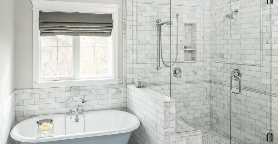 shower niche ideas bathroom traditional with window metal cabinet and drawer pulls