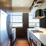 small galley kitchen with