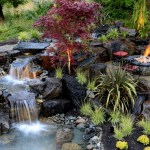 water features for landscape contemporary with greenery outdoor dining sets