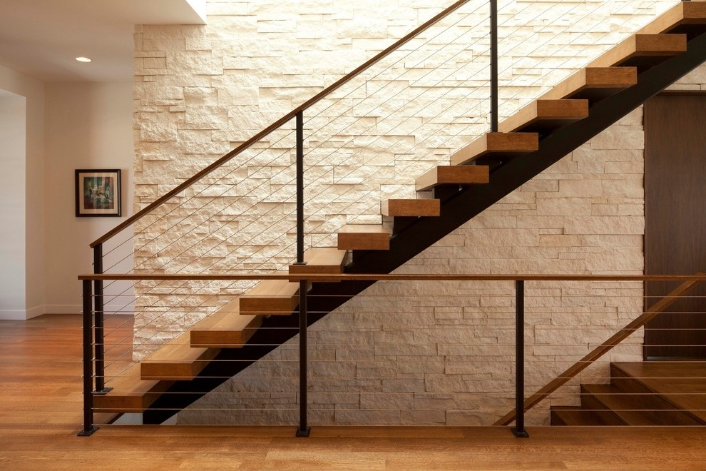 Wood Railing Designs With Glass Tile Floor Bannister Staircase Window   Wooden Railing Designs For Stairs   Handrail   Different Kind Wood   Combination Wood   Interior   Indoor