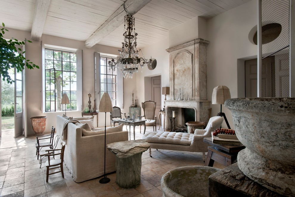 beige floor lamps country french living