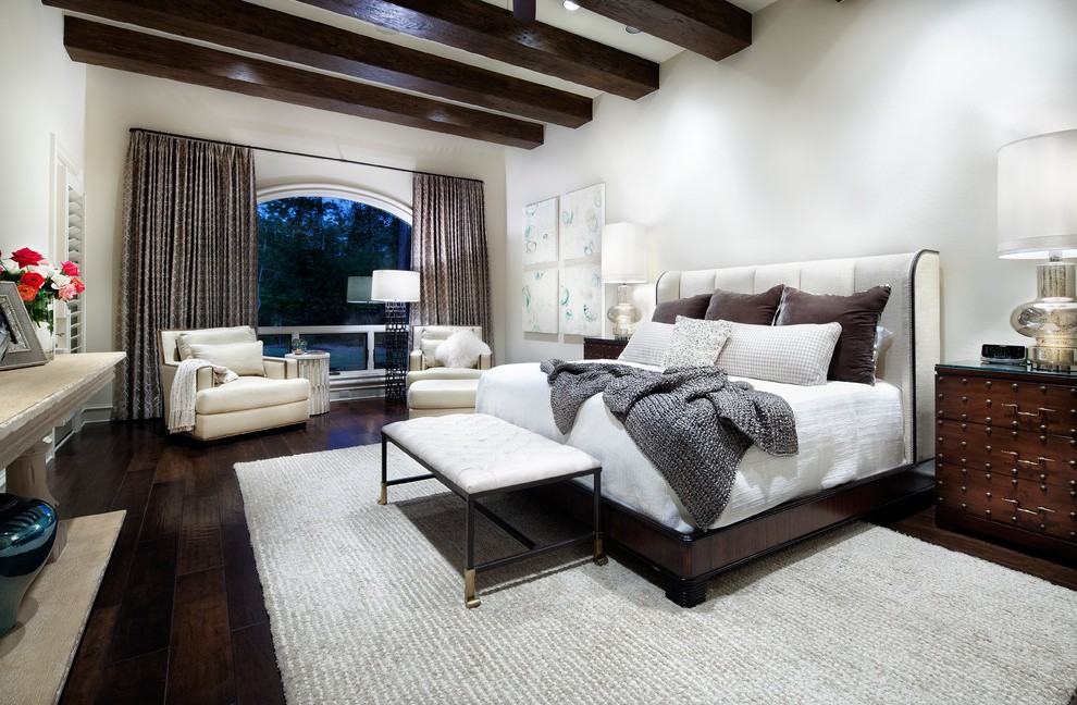 houston white ruffle bedspread with traditional armchairs and accent chairs bedroom contemporary artwork dark wood floor