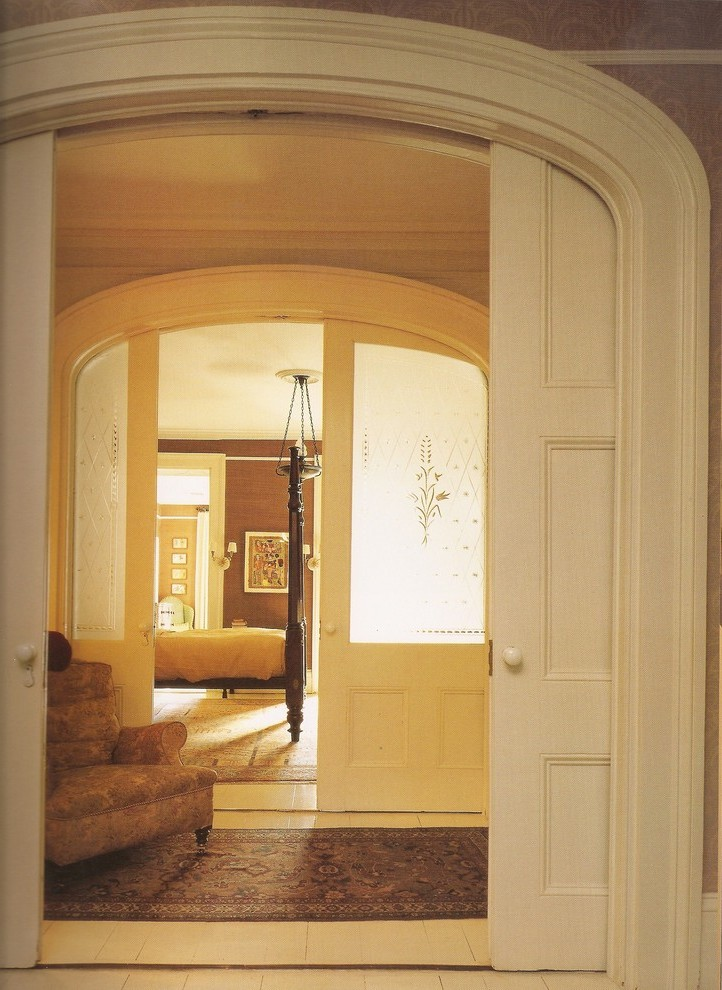 Arch Glass Pocket Door Traditional New York With Boat