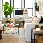 chicago west elm bello rug with themed decorative pillows living room eclectic and ottoman fiddle leaf fig