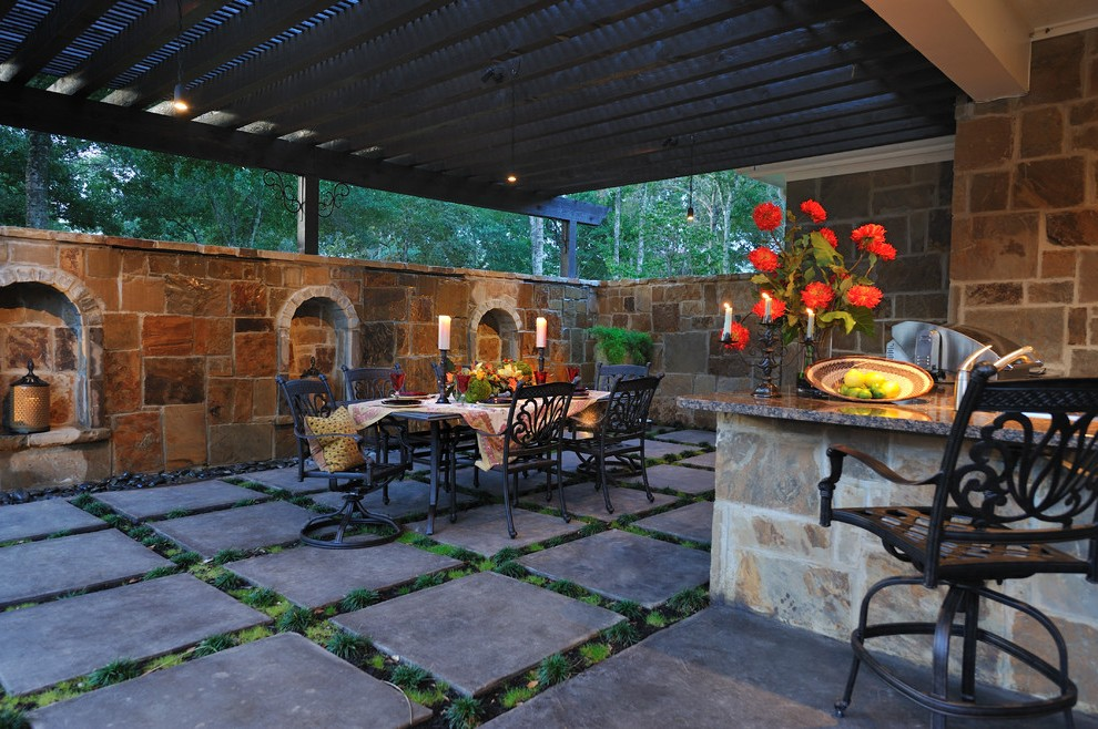 Houston Wrought Iron Pergola Patio Traditional With