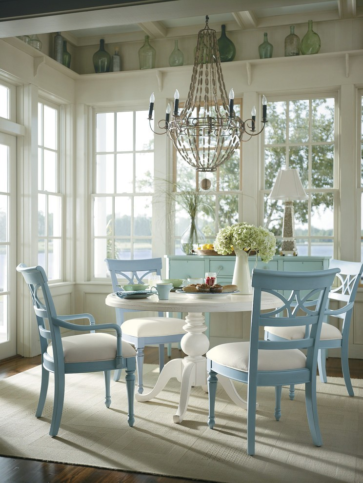 Sparkling Blue Wing Chair With Formal Living Room White