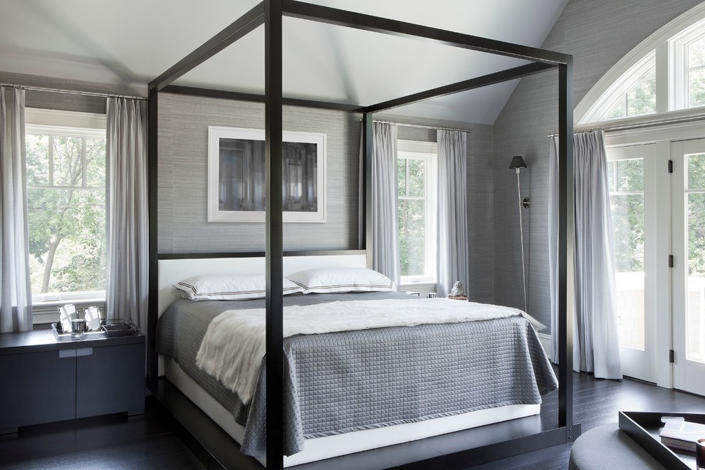 new york black canopy bed curtains