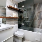toronto commercial bathroom design with contemporary sink faucets and bath wood shelf