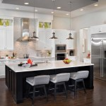 built in shaker cabinets kitchen island seating with modern range hoods and vents transitional orlando