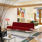 artwalk rug decorating with red couches swivel adjustable height bar stools modern vancouver and