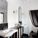 brisbane red black and white wall decor with double sink bathroom vanities tops2- traditional crystal sconce