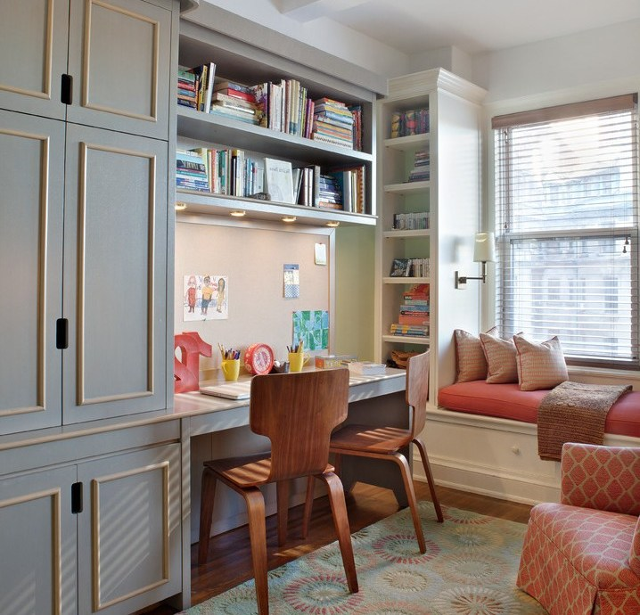 new york diy design interior with traditional toddler play tables kids and striped wallpaper built in window bench