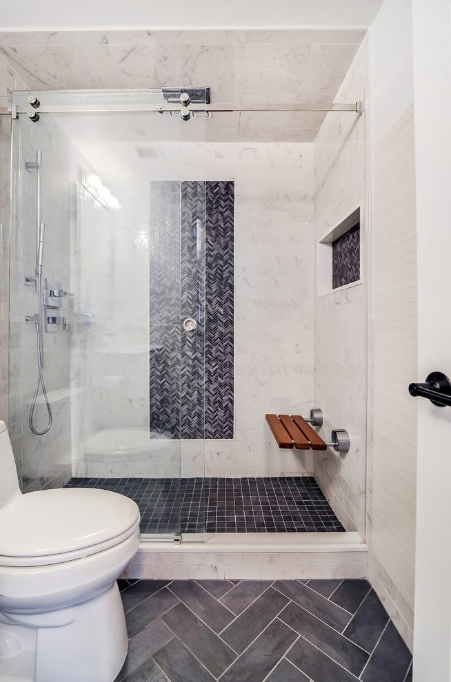 Good Looking Tiled Showers Pictures Bathroom Transitional