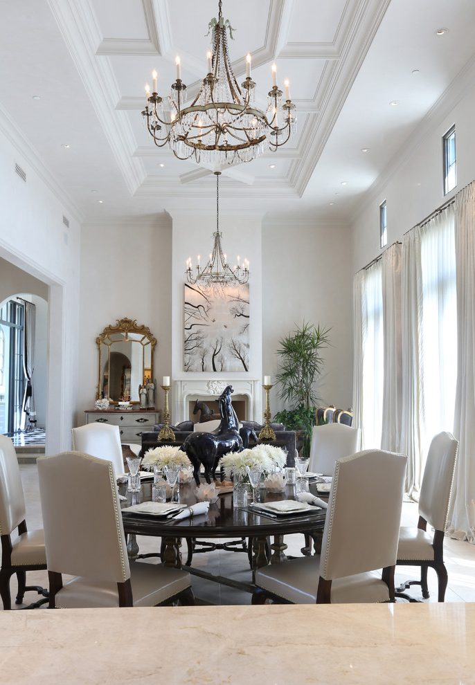 Phoenix Coffered Ceiling Pictures Dining Room Traditional With Classic Design Napkin Rings