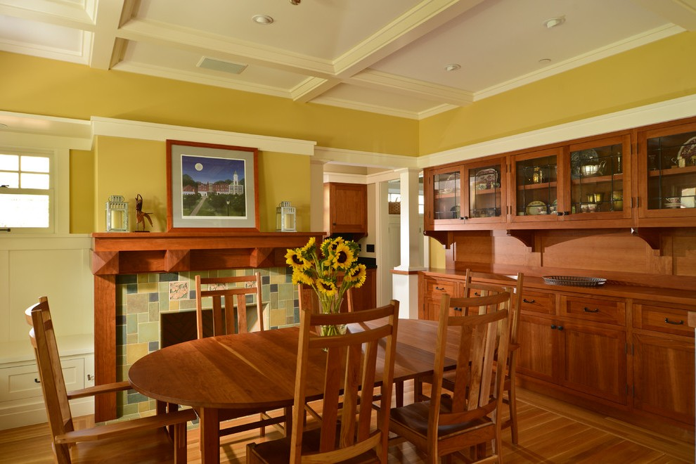 Imaginative Built In Bookcases Around Fireplace Dining Room Craftsman With Built In Drawers