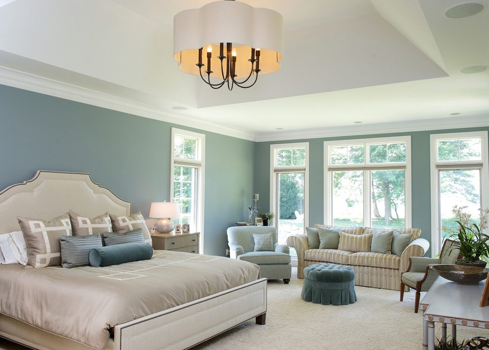 Pleasing Cappuccino Color Paint Bedroom Traditional With