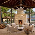 houston muskoka living with glass shade sunroom contemporary and ceiling fan window wall