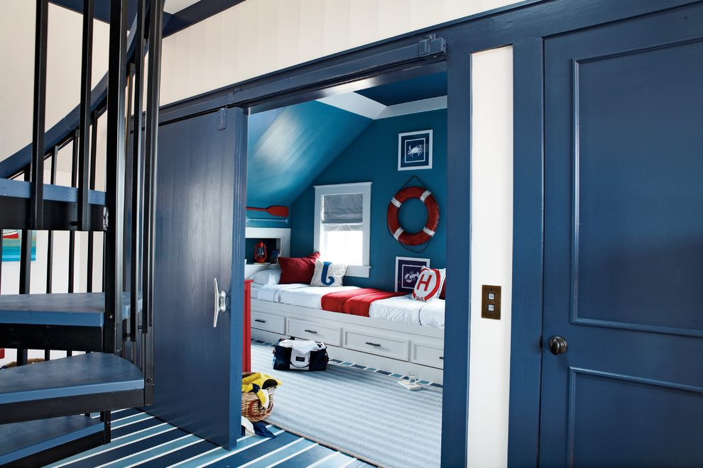 atlanta blue striped pillows with transitional doorknobs kids beach style and nautical accessories