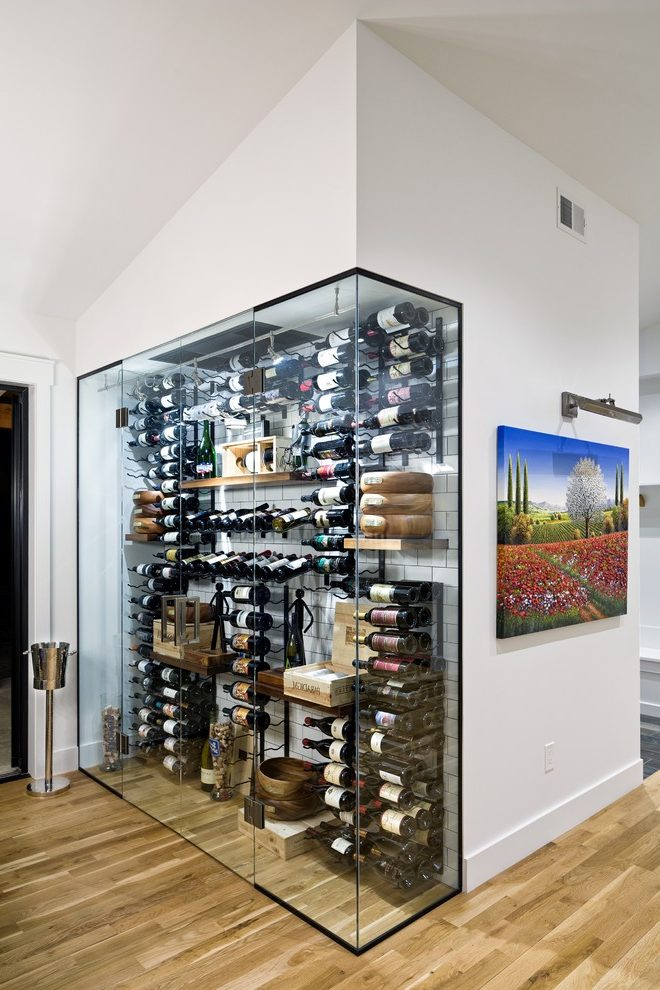 Terrific Built In Wall Wine Rack Cellar Rustic With Wooden