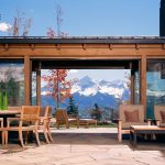 denver outdoor chandelier ideas with traditional benches patio rustic and glass wall mountain view