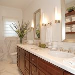 los angeles bathroom linen cabinets with metal accessory sets5- traditional and double sinks tile