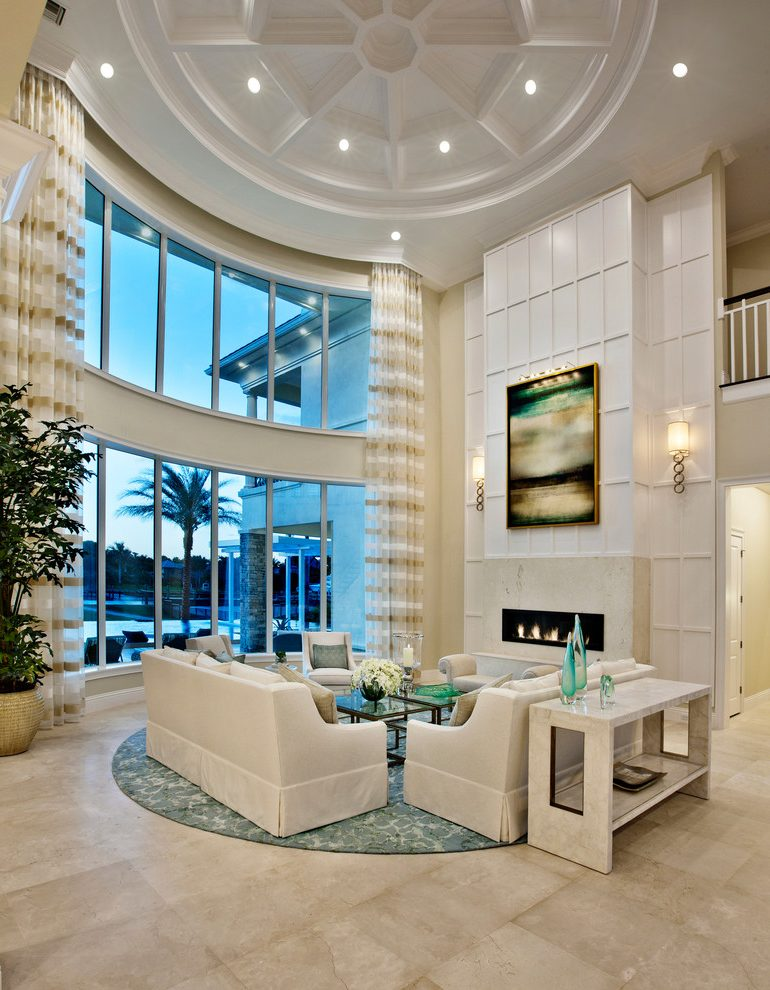 miami living room wall sconces with modern fireplaces beach style and curtains round turquoise area rug