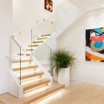san francisco dwell studio target with contemporary novelty rugs staircase and indoor plants wood tread