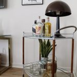 bar cart vintage with window treatment professionals and