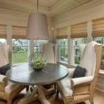 roman shades with border transitional pendant lights and